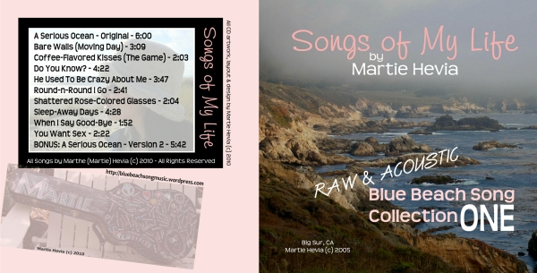 CD Booklet (Outside) Art for Blue Beach Song Collection: ONE | Songs of My Life by Martie Hevia