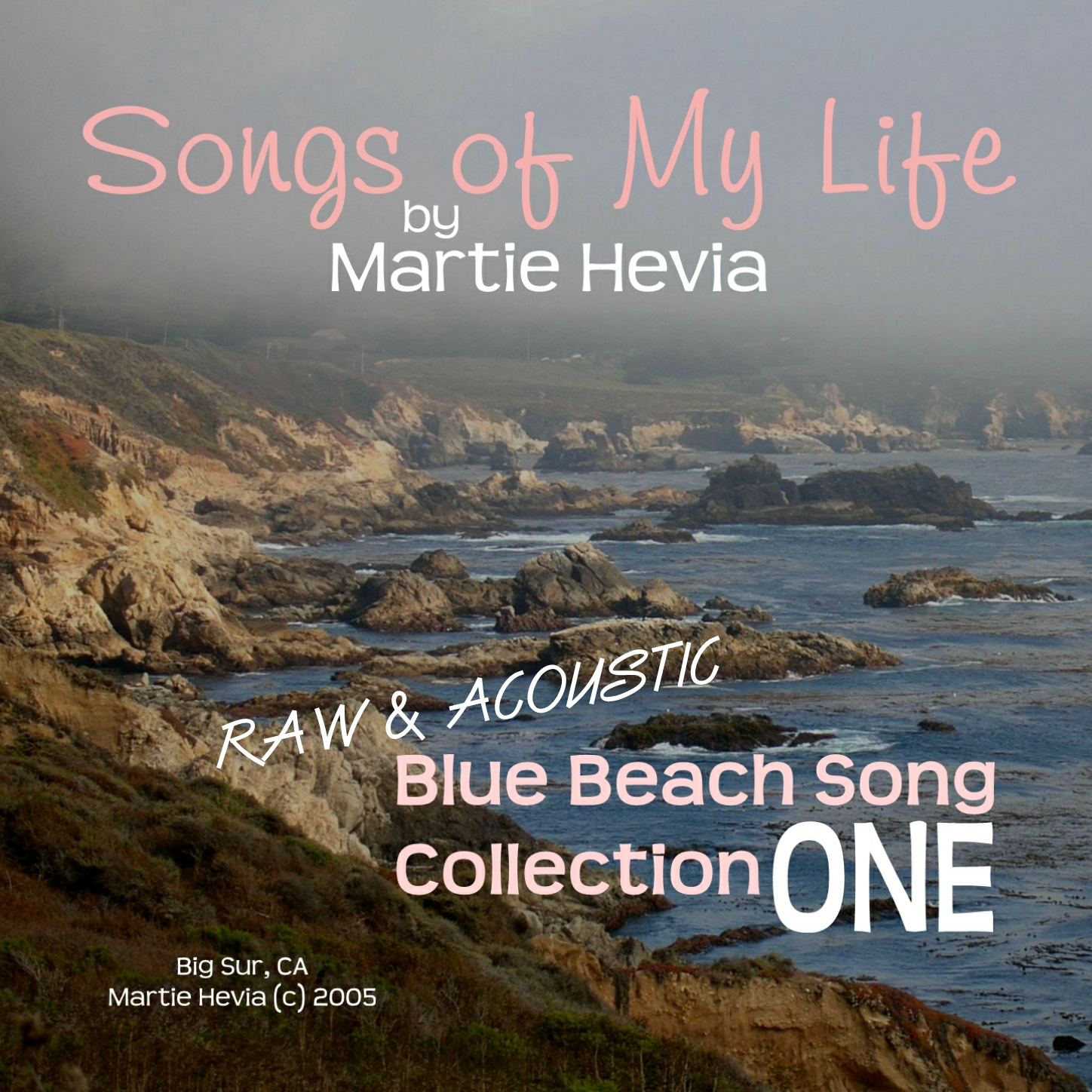 CD/MP3 Cover Art for Blue Beach Song Collection: ONE | Songs of My