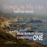CD/MP3 Cover Art for Blue Beach Song Collection: ONE | Songs of My Life by Martie Hevia
