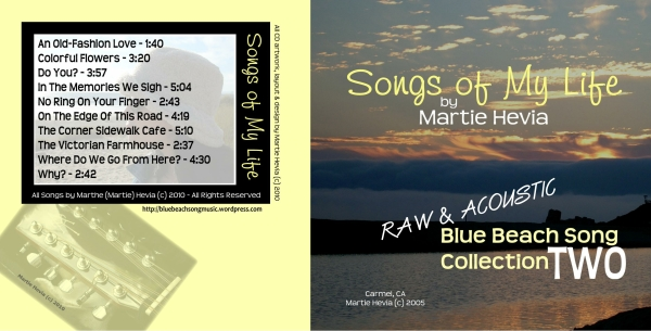 CD Booklet (Outside) Art for Blue Beach Song Collection: TWO | Songs of My Life by Martie Hevia