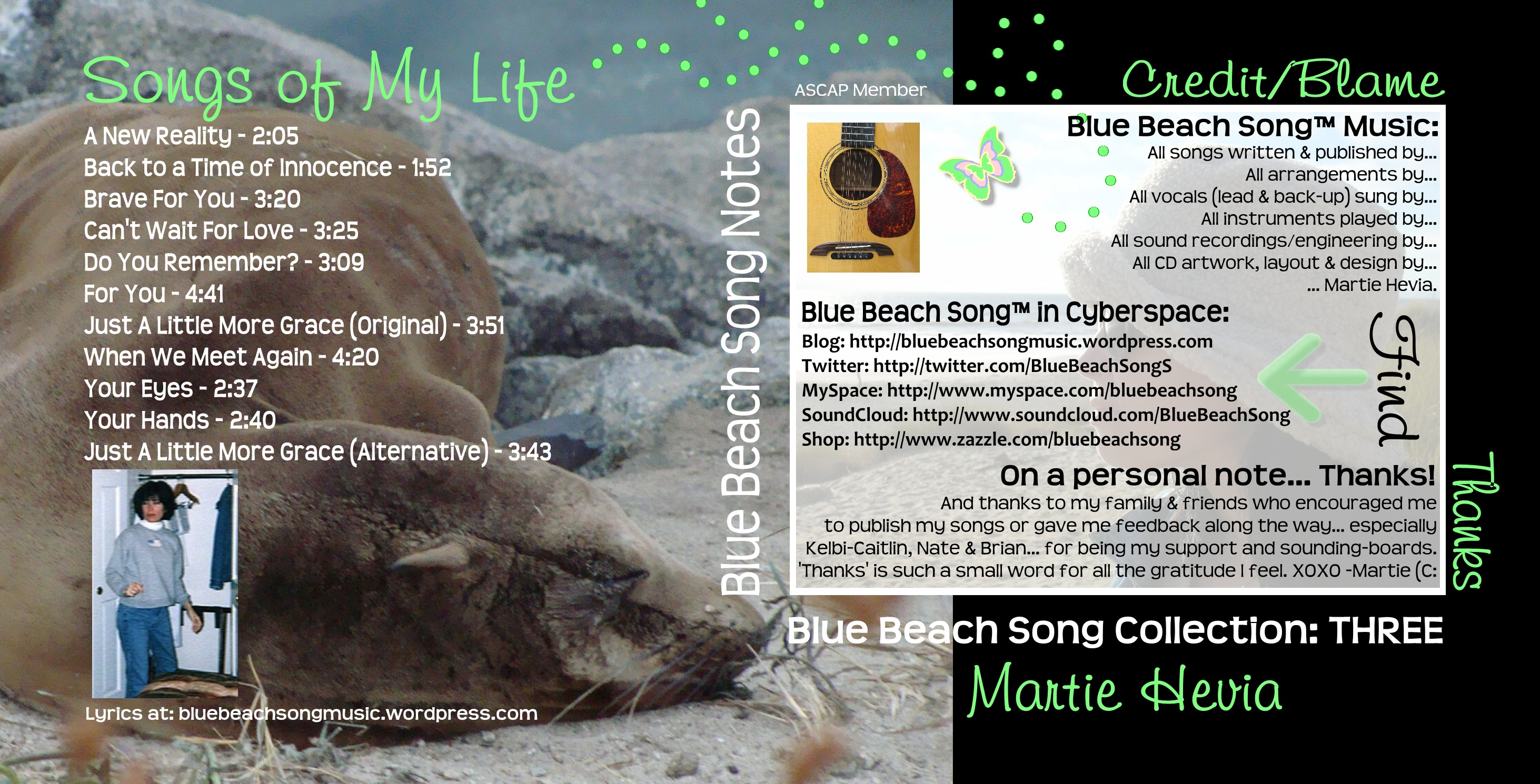 Blue Beach Song Collection: THREE - CD Booklet Inside Art
