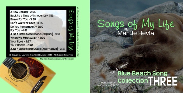 Blue Beach Song Collection: THREE - CD Booklet Outside Art